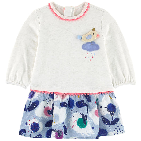 Catimini Baby Girl Bi-material Dress (12m, 2T, 3T, 4T)