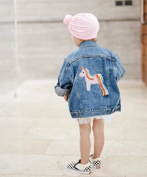 Phyllis Unicorn Denim Jacket (Size 2, 4, 6)