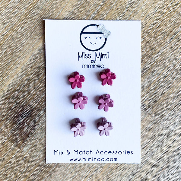Mini Claws Hair Clips - Pretty in pink