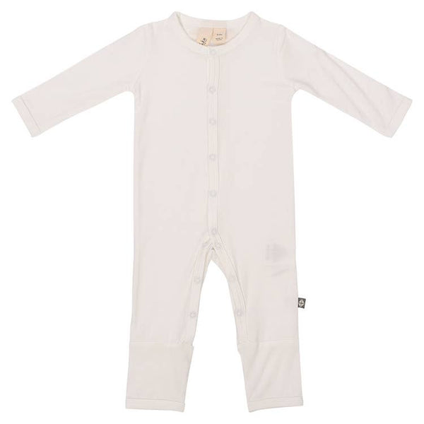 Kyte Baby Solid Romper in Cloud