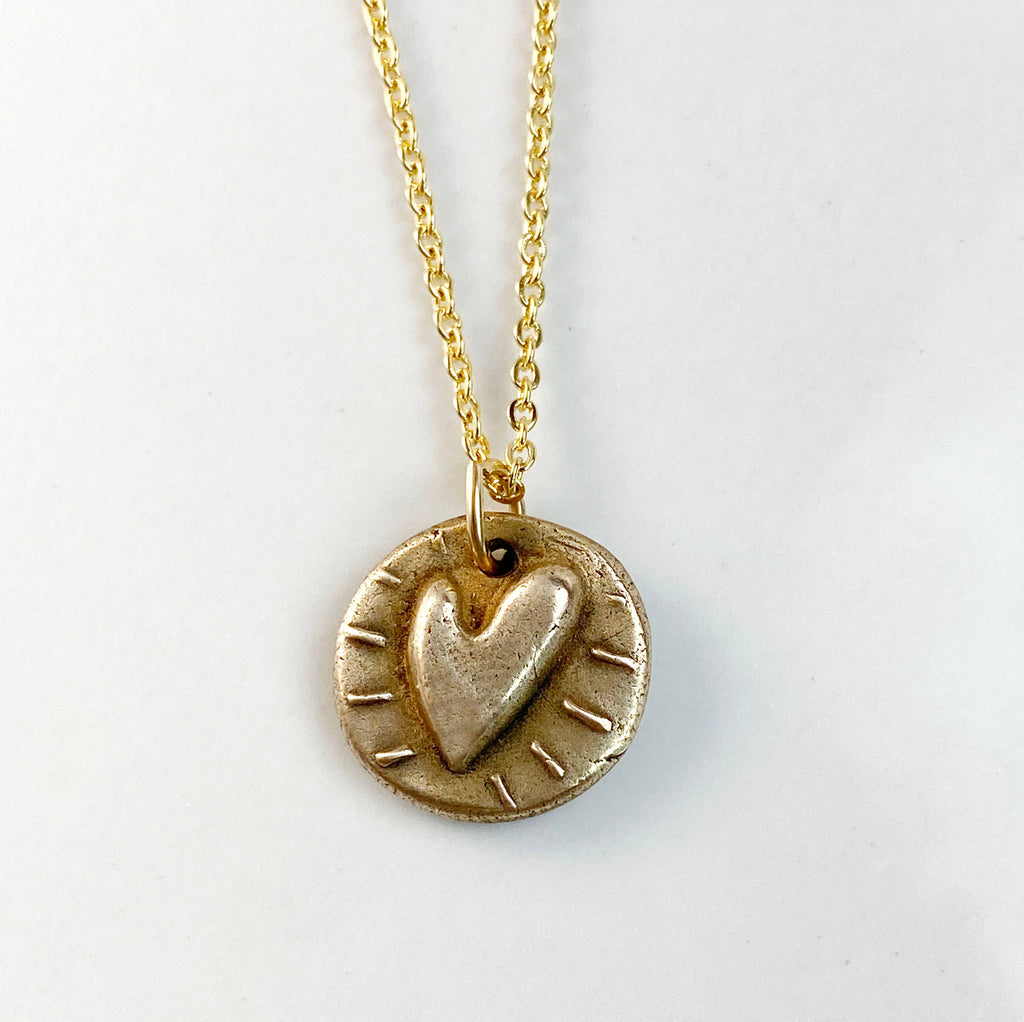 Valentine Bronze Charm Necklace