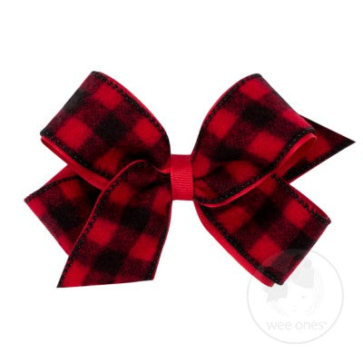 Holiday Flannel Overlay Bow