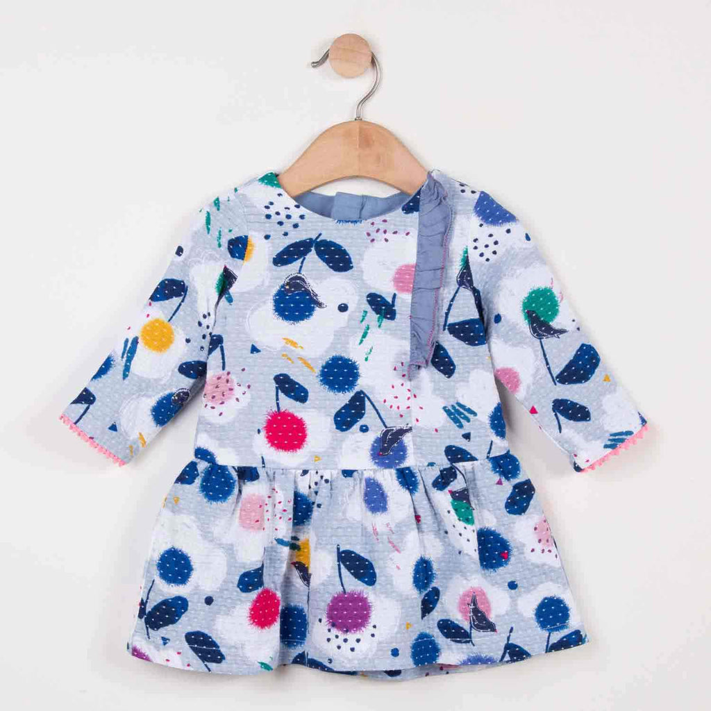 Catimini Charming Printed Micro Weave Fabric Baby Dress
