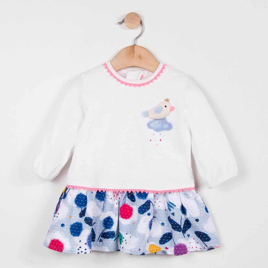 Catimini Baby Girl Two Material Dress (2T, 3T)