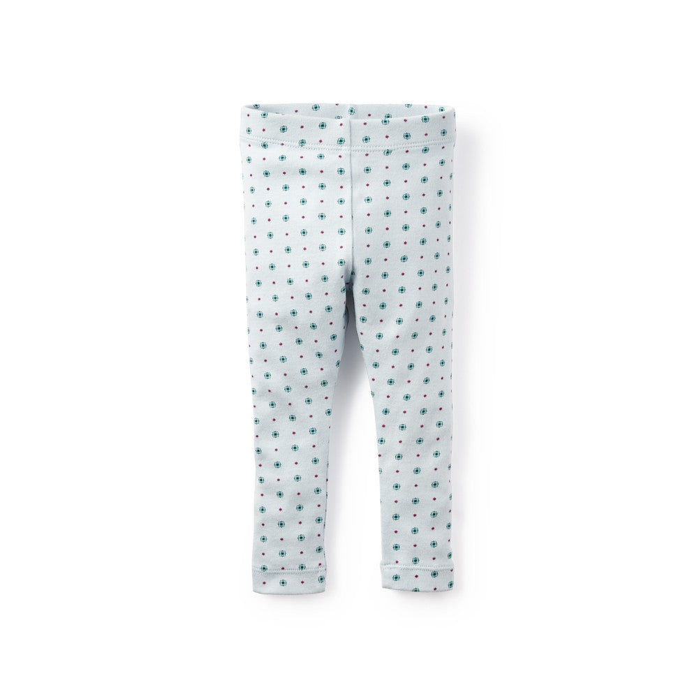 Tea Collection: La Boca Dot Baby Leggings in Rivermist (3-6m, 6-12m, 12-18m)