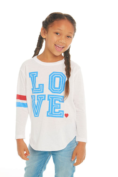 Chaser Girls Long Sleeve T-Shirt - Love (Size 3, 4, 8)