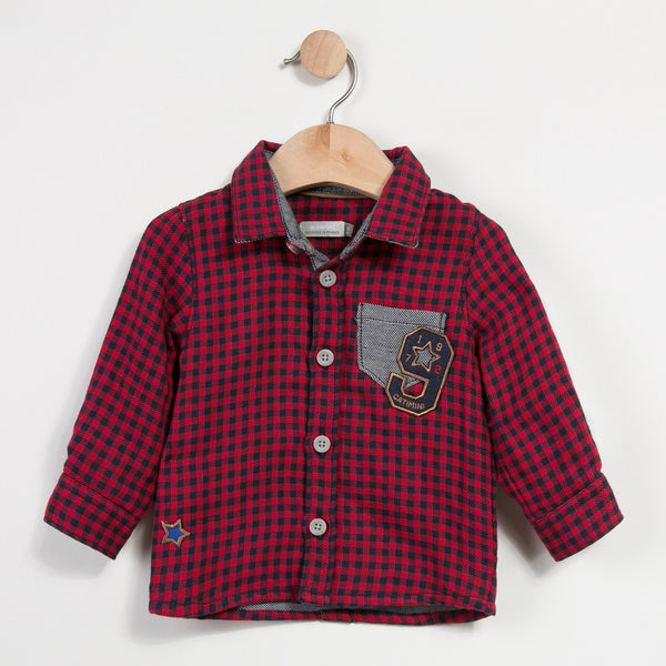 Catimini Double-sided checked Shirt Magic Circus