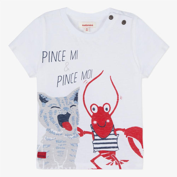 Catimini T-shirt with Lobster Motif (6m, 12m)