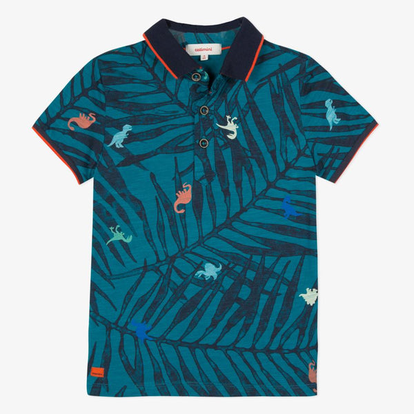 Catimini Kid Boy Polo Shirt with Jungle Print