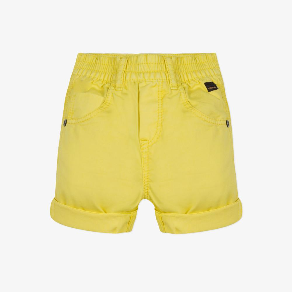 Catimini Baby Boy Overdyed Yellow Gabardine Bermuda Shorts