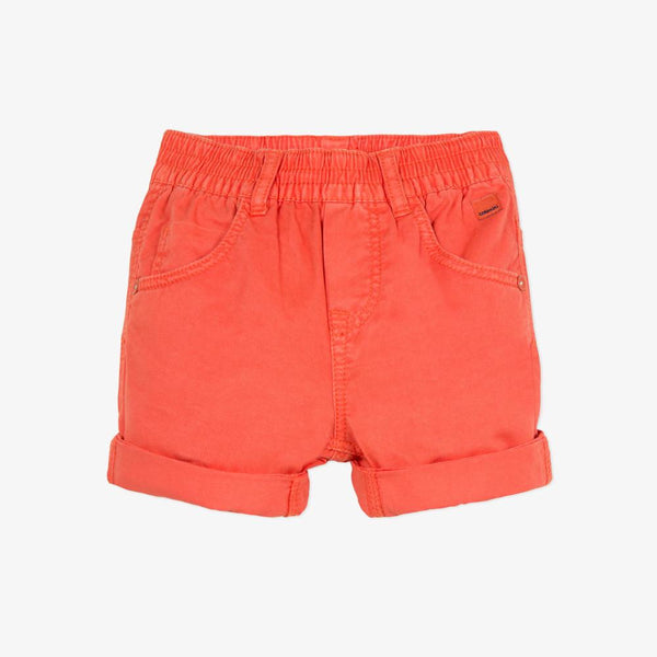 Catimini Boy Overdyed Bermuda Shorts in Orange