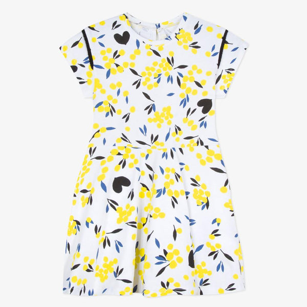 Catimini Girl's Mimosa Print Jersey Dress (4Y, 8Y)