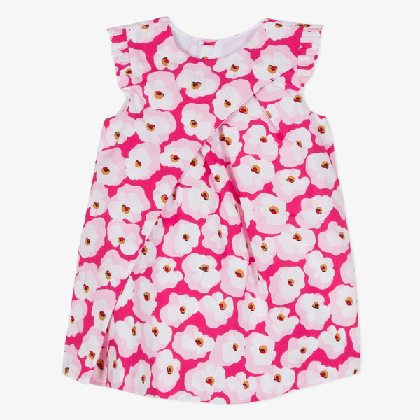 Catimini Poplin Dress Printed with Cherry Blossoms (12m, 18m, 2T, 4T)