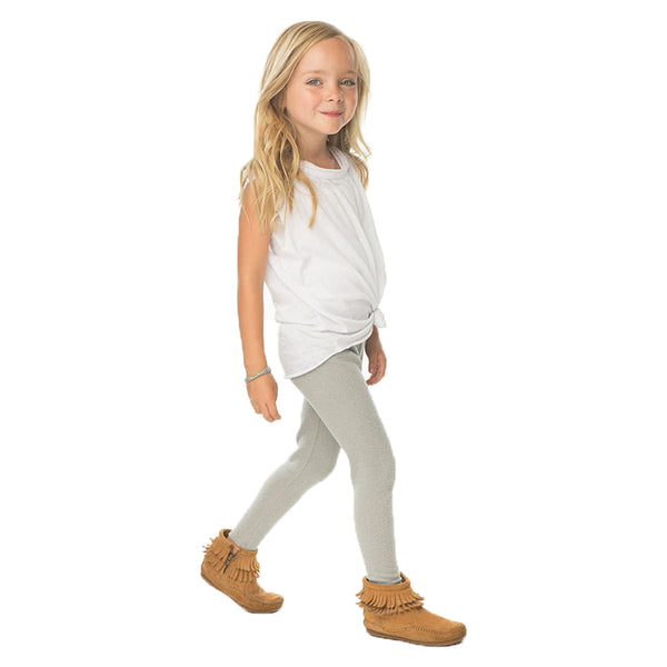Chaser Girls Cozy Knit Leggings in Heather Grey