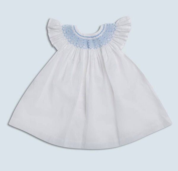 Dondolo Bishop Dress in Light Blue