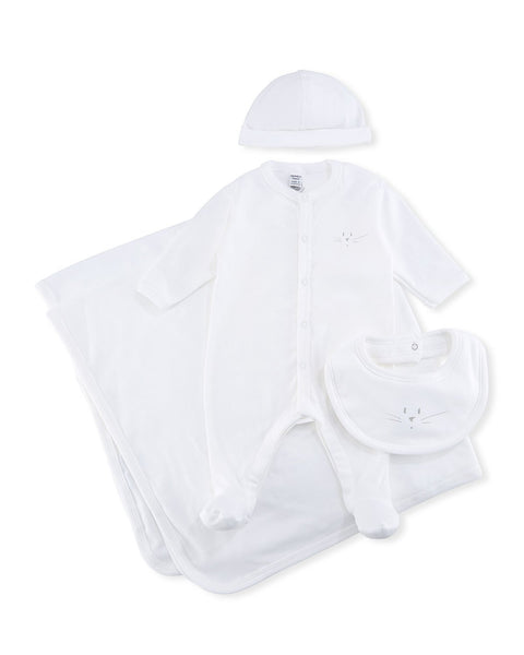 Petit Bateau Baby Gift Box Cotton Layette 4-piece Set