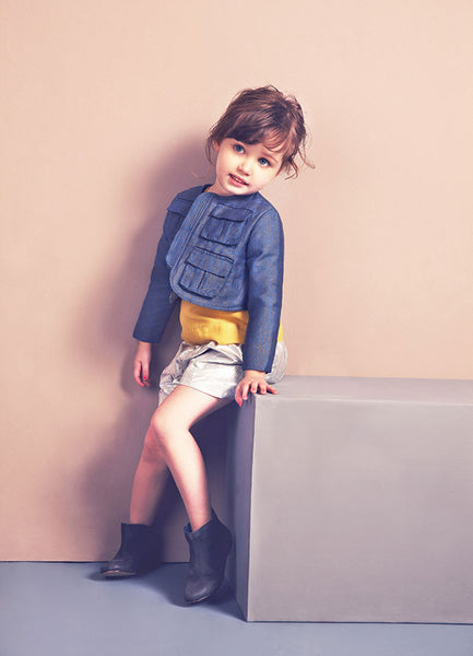 Nellystella Stelly Jacket in Medium Arrow Print  (4Y)