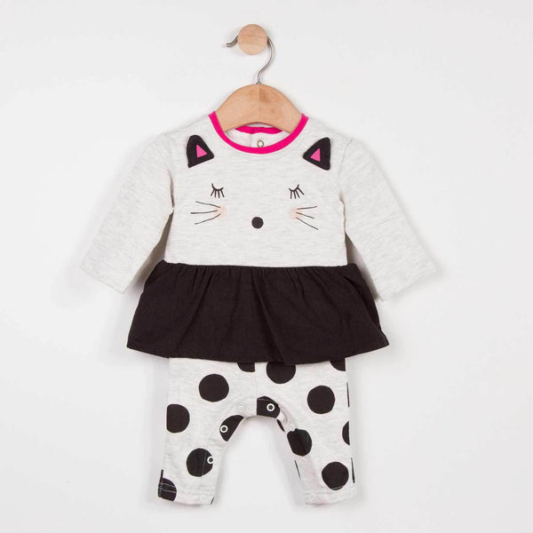 Catimini Baby Girl Cat Cotton Romper