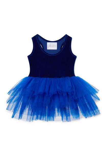 Plum Velvet Tutu Dress - Neve Blue