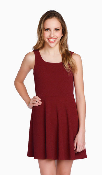 The Ruby Dress in Wine