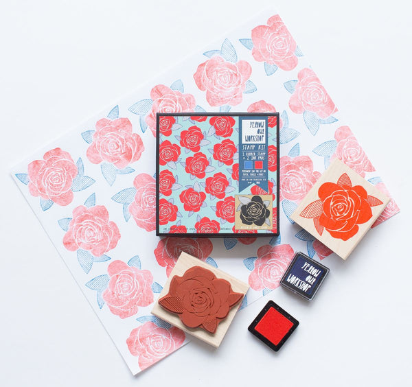 Rose Pattern Stamp Set
