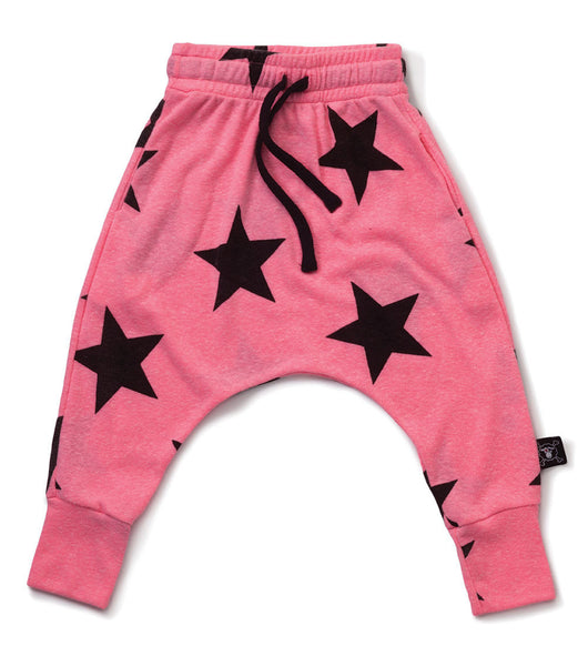 Nununu STAR BAGGY PANTS Pink