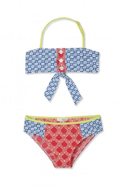 Orange Mix Up Bikini Set (size 4,6)