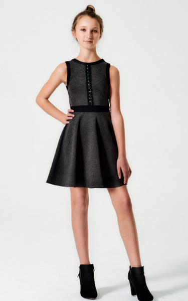 The Stella Dress in Charcoal