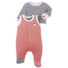 Petit Bateau Footie Striped Set with Cardigan (3m)