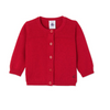 Petit Bateau: Baby Girl's Wool and Cotton, Red Cardigan