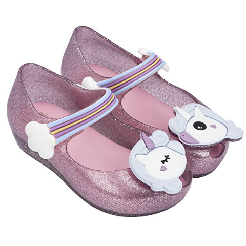 Mini Melissa Ultragirl Unicorn Maryjane in Pink Sparkling (Size 5, 6)