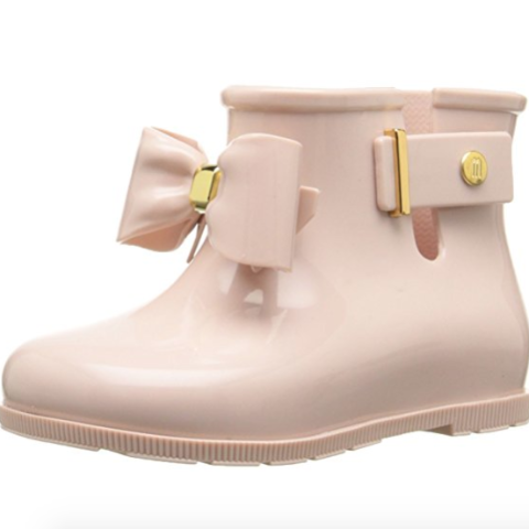 Mini Melissa Sugar Rain Boots in Light Pink