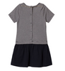 Petit Bateau Baby Girl Short Sleeve Striped Top Dress Navy/White (3m, 18m, 36m)