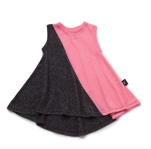 Nununu 360 Tank Dress in Charcoal/Pink (18-24m)