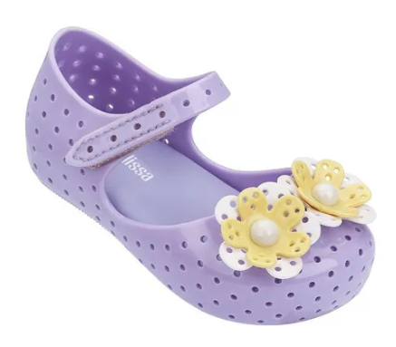 Mini Melissa: Furadinha XII in Lilac/Yellow (Size 5, 7, 10)