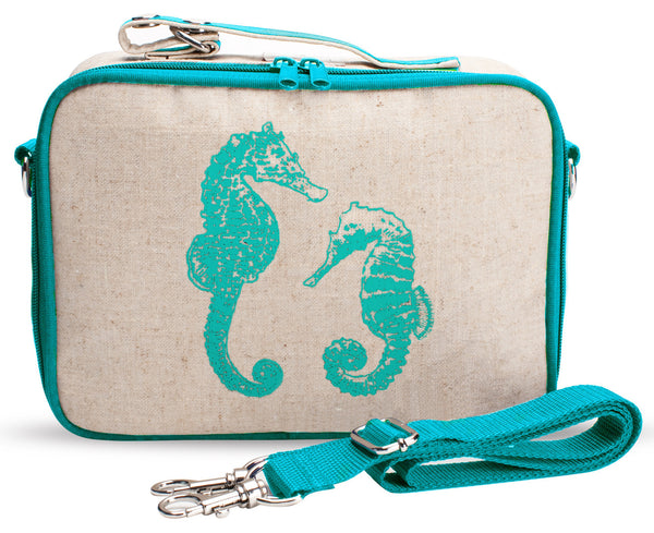 SoYoung Insulated Lunch Box Aqua Seahorse