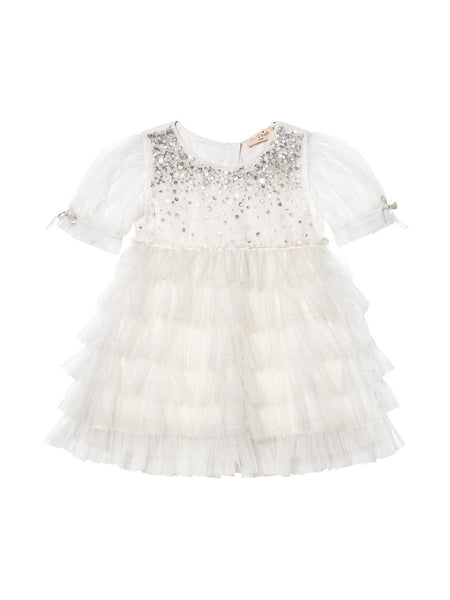 Tutu Du Monde Bébé Bijou Tulle Dress in Milk