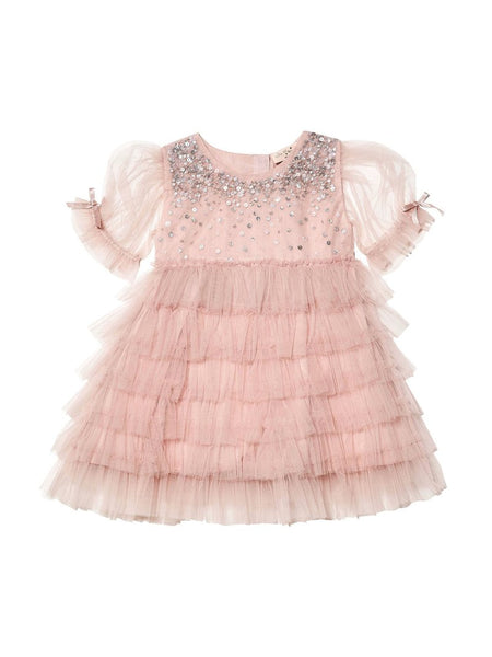 Tutu Du Monde Bébé Bijou Tulle Dress in Blush