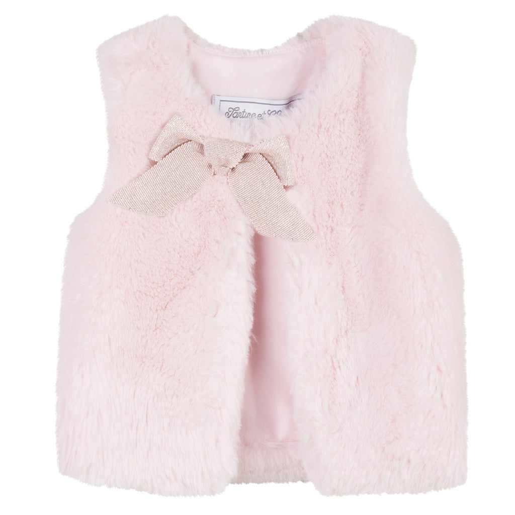 Tartine et Chocolat Waist Coat in Rose (Size 12m)