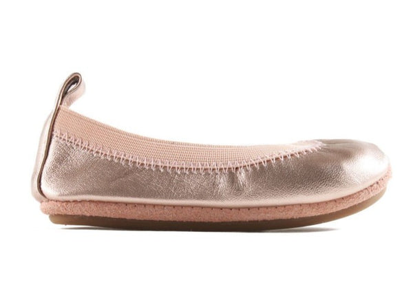 Yosi Samra Soft Leather Ballet Flats Rose Gold
