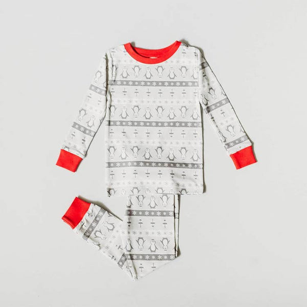 Organic Christmas Kids Pajamas - Winter Wonderland