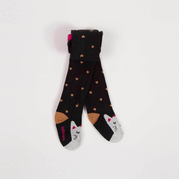 Catimini Baby Girl Kitten Print Tights