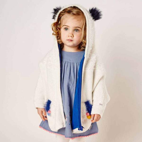 Catimini Warm Knit Cape Coat (18m, 2T)