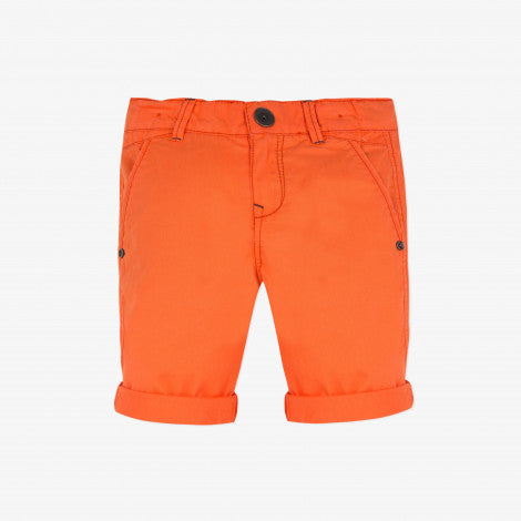 Catimini Fiery Orange Pigmented Bermuda Shorts