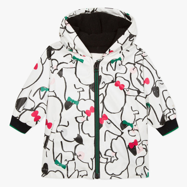 Catimini Little Girl 2 in 1 Cats & Dogs Printed Rain Jacket