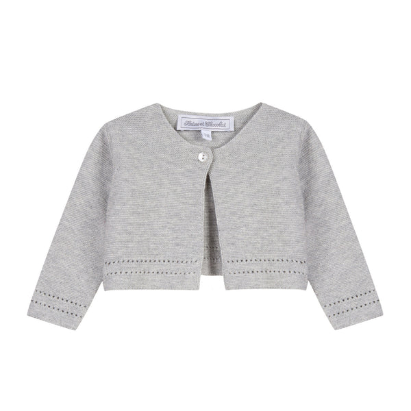 Tartine et Chocolat Grey Baby Cardigan