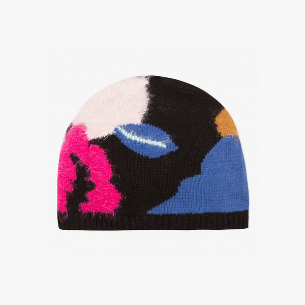 Catimini Girl's Floral Jacquard Knitted Hat