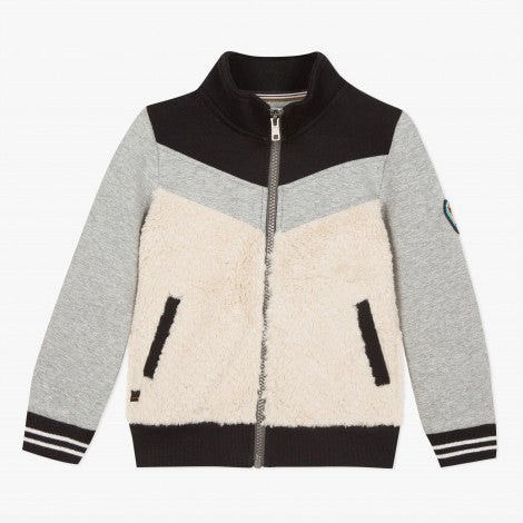 Catimini Boy Faux fur Zipper Cardigan