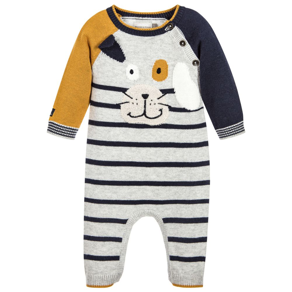 Catimini: Knitted Dog Jumpsuit