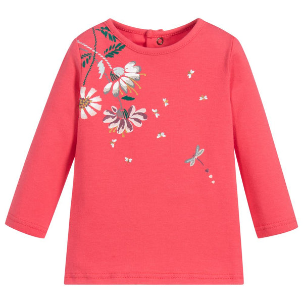 Catimini Baby Girls Pink Floral Top (18m)